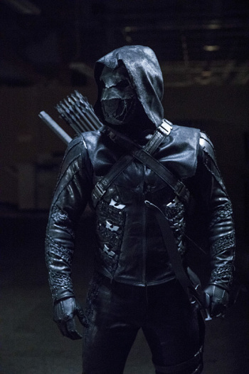"Arrow -- ""What We Leave Behind"" -- Image AR509b_0236b.jpg -- Pictured: Prometheus -- Photo: Jack Rowand/The CW -- © 2016 The CW Network, LLC. All Rights Reserved."