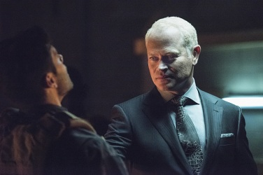 "Arrow -- ""Green Arrow"" -- Image AR401B_0237b -- Pictured: Neal McDonough as Damien Darhk -- Photo: Dean Buscher /The CW -- © 2015 The CW Network, LLC. All Rights Reserved"
